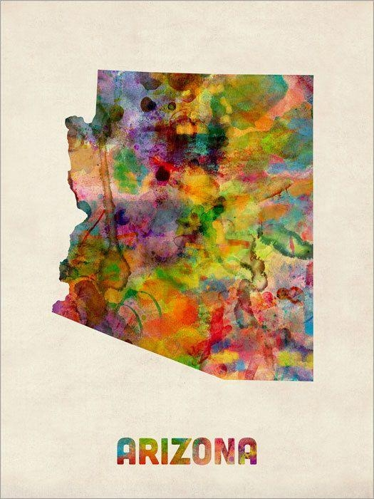 100 Best Watercolor States Images On Pinterest | Watercolors Within United States Map Wall Art (Image 1 of 20)