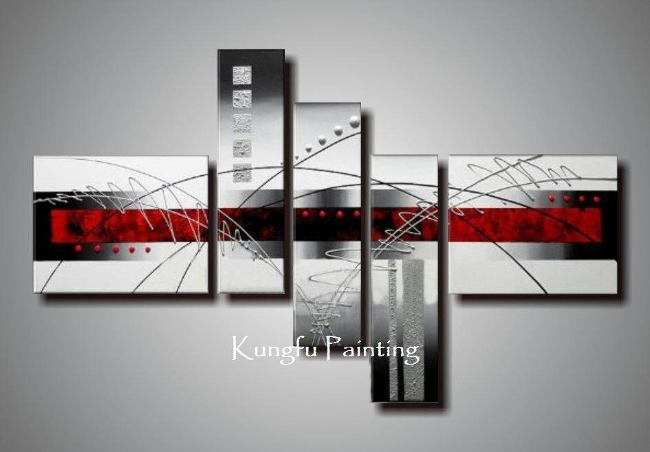 Featured Image of Black And White Wall Art With Red