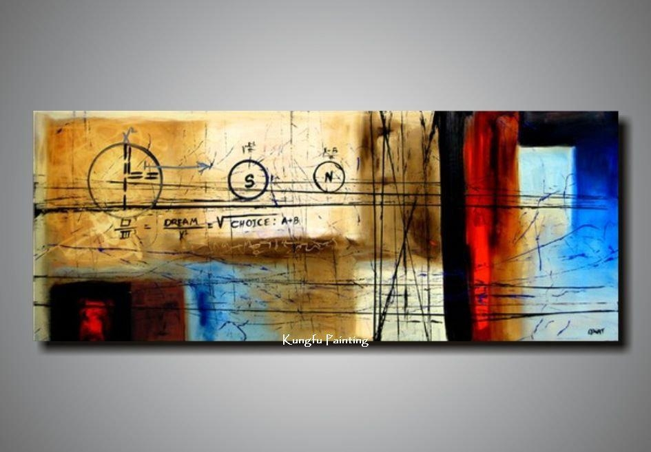 100% Handpainted Huge Wall Art Canvas Picture On The Wall Home For Cheap Oversized Wall Art (Image 1 of 20)