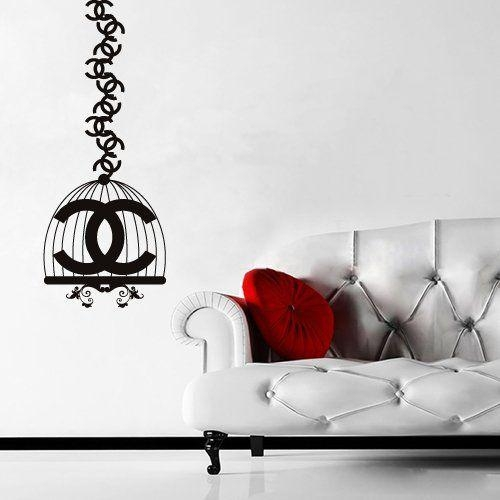 102 Best Crea Images On Pinterest | Chanel Decor, Chanel Room And Intended For Coco Chanel Wall Decals (Image 1 of 20)