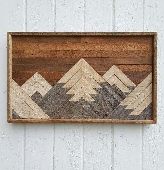 102 Best Handmade Reclaimed Wood Wall Art And Headboards Images On Pertaining To Natural Wood Wall Art (Image 1 of 20)