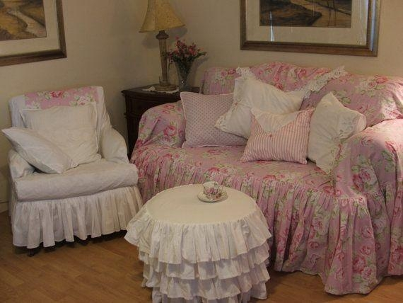 shabby chic sofa slipcover shabby chic chair slip covers veneziacalcioa5 thesofa. Black Bedroom Furniture Sets. Home Design Ideas