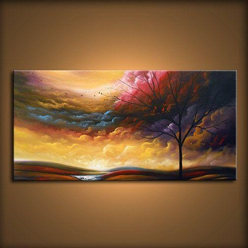 103 Best Art Images On Pinterest | Painting, Landscapes And Paintings In Oil Painting Wall Art On Canvas (Image 1 of 20)