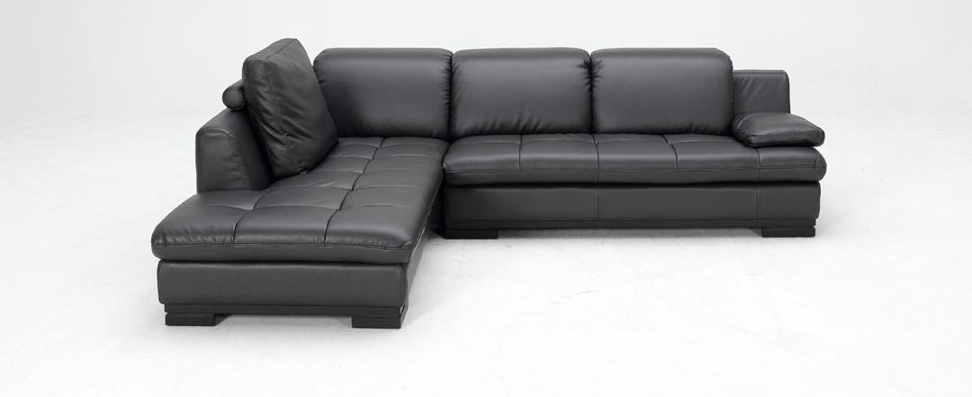 1052 – Espresso Full Top Grain Leather Sectional Sofa (Left Facing Inside Low Height Sofas (Image 1 of 20)