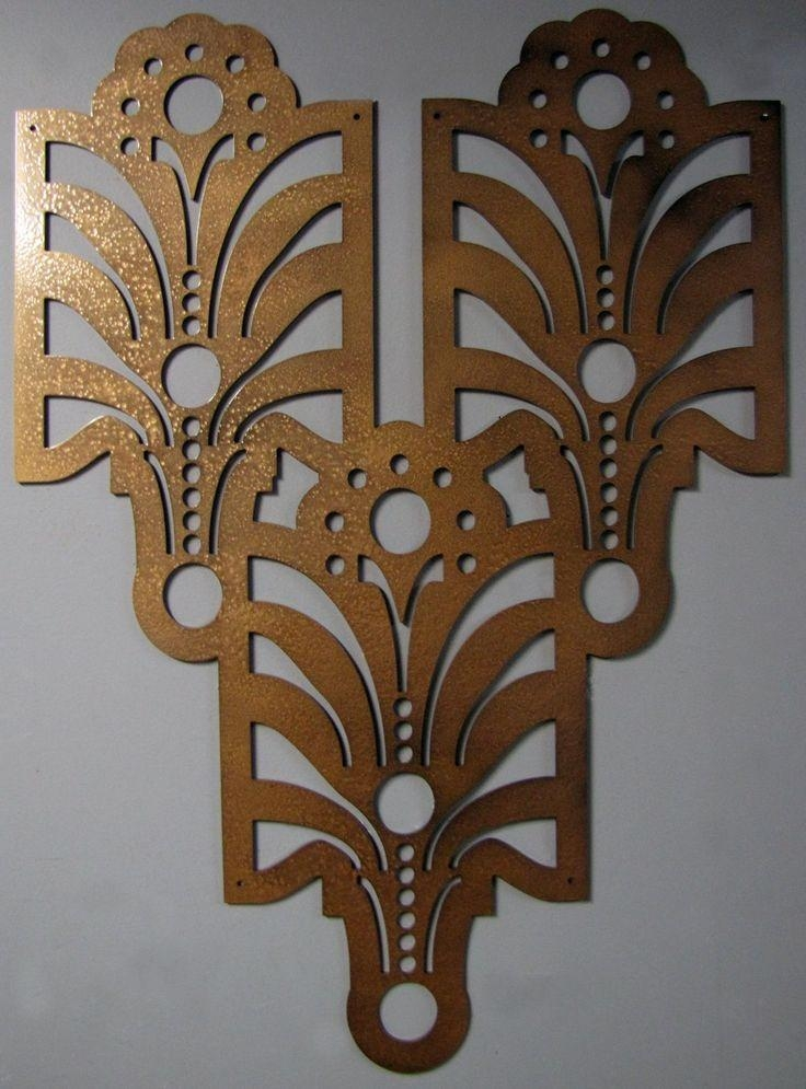 Wall Art: Art Deco Metal Wall Art (#7 of 20 Photos)