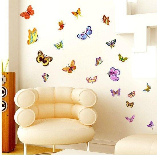 111 Best Butterfly Wall Decals Images On Pinterest | Butterfly Intended For Butterflies Wall Art Stickers (Image 1 of 20)