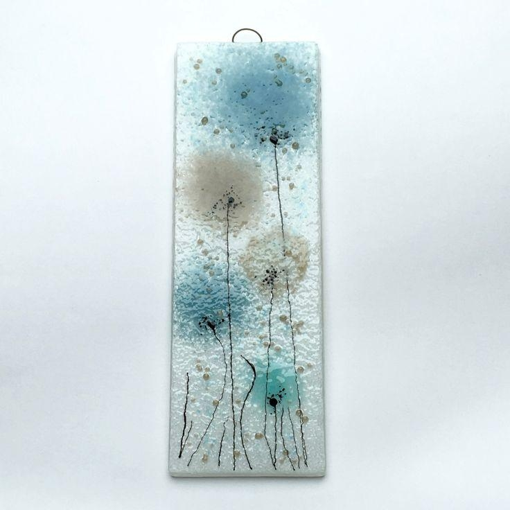 111 Best Fused Glass Wall Art – Panels – Hangings – Candle Screens With Blue And Cream Wall Art (Image 1 of 20)