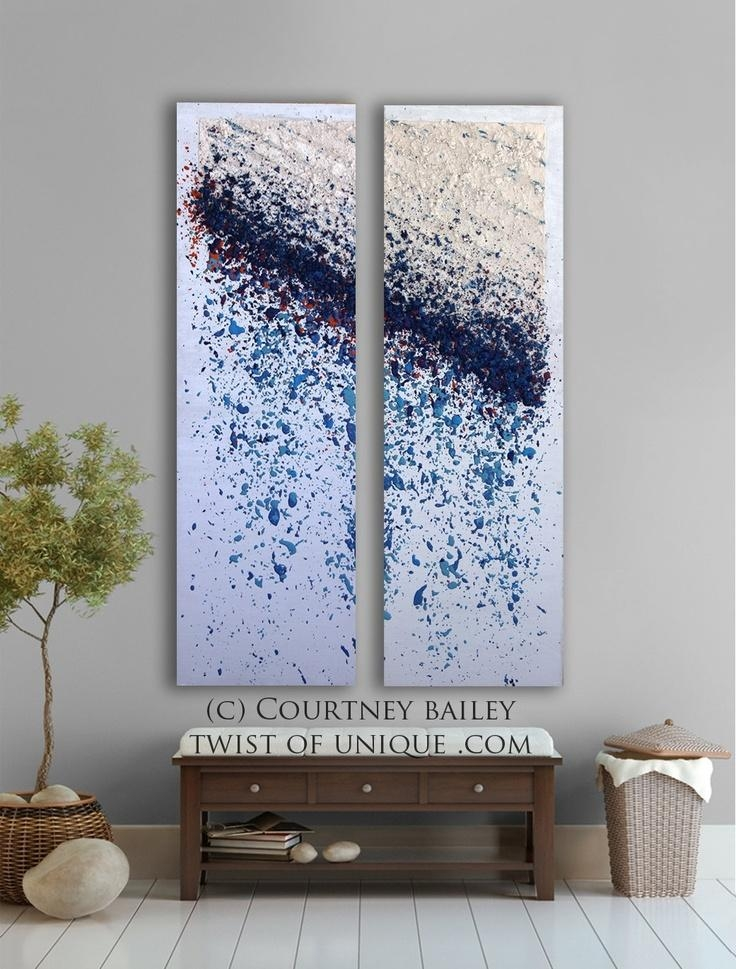 119 Best Diy Wall Art Images On Pinterest | Painting, Canvas Art Pertaining To Blue And Silver Wall Art (Image 1 of 20)