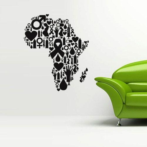 12 Best Africa Map Wall Art Images On Pinterest | Africa Map, Map Pertaining To Twiggy Vinyl Wall Art (Image 2 of 20)