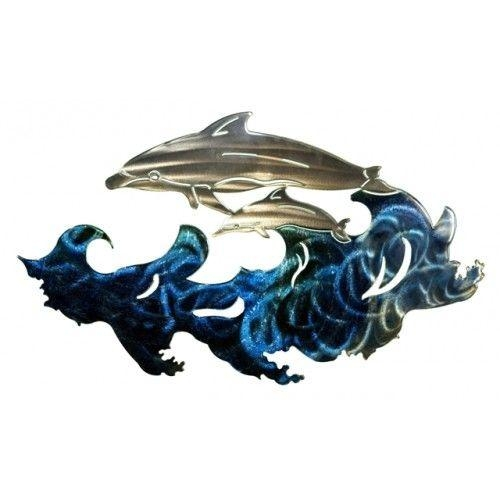 12 Best Fish Wall Art Images On Pinterest | Metal Walls, Metal With Regard To Dolphin Metal Wall Art (Image 1 of 20)