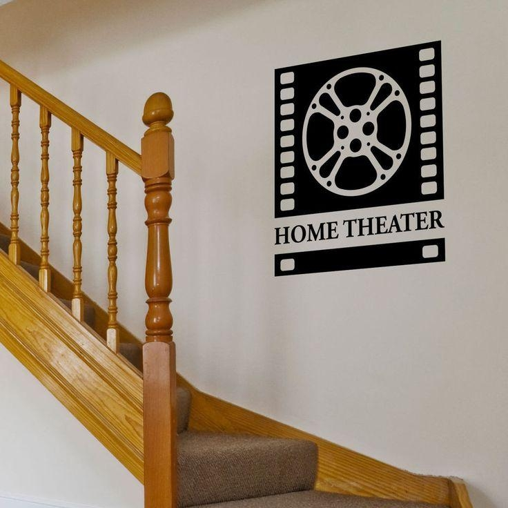 12 Best Movie & Home Theater, Film & Cinema Wall Decals Images On Pertaining To Home Theater Wall Art (Image 1 of 20)