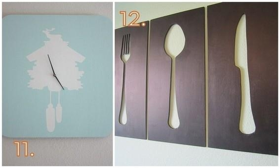 12 Diy Wall Art Ideas Using Silhouettes | Curbly For Large Wall Art For Kitchen (Image 1 of 20)