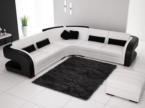 122 Best Sofa Bed | Sectionals | Sleeper Sofa | Leather Sofa Intended For Black And White Leather Sofas (Image 2 of 20)