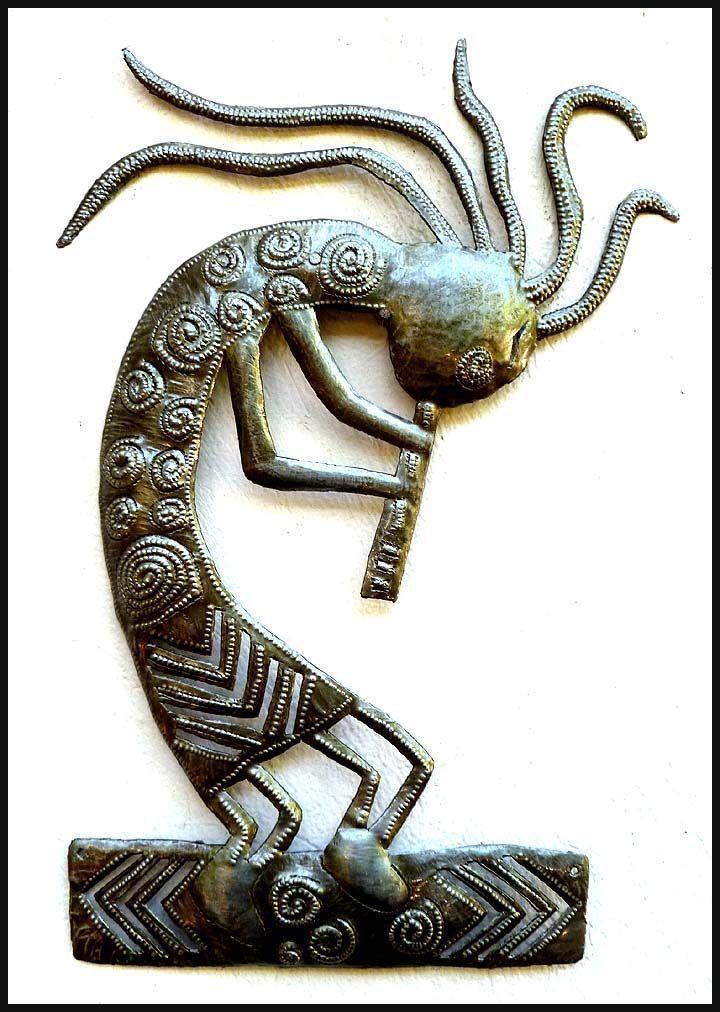 1286 Best Haitian Recycled Steel Drum Art, Metal Home Décor Within Kokopelli Metal Wall Art (Image 3 of 20)