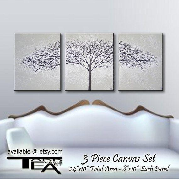 13 Best Canvas Images On Pinterest | Frames, Painting And Tree Inside Black And White Wall Art Sets (Image 1 of 20)