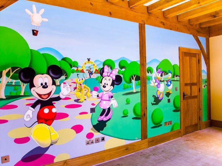 13 Best Mickey Mouse' Clubhouse Bedroom Mural Images On Pinterest Pertaining To Mickey Mouse Clubhouse Wall Art (Image 1 of 20)