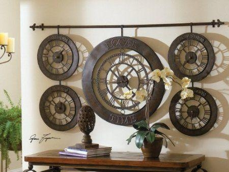13 Best Wall Clocks Images On Pinterest | Roman Numerals, Iron In Large Wall Art For Kitchen (Image 2 of 20)