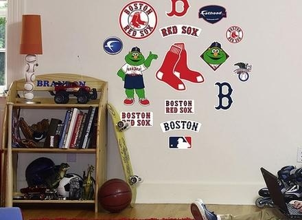 13 Red Sox Wall Decals, District17: Red Sox Logo Wall Decals: Wall With Regard To Red Sox Wall Decals (View 13 of 20)
