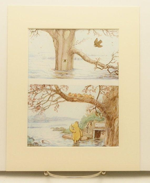 130 Best Vintage Pooh Bear Nursery Images On Pinterest | Pooh Bear In Winnie The Pooh Wall Art For Nursery (Image 1 of 20)