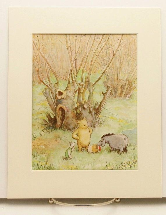 130 Best Vintage Pooh Bear Nursery Images On Pinterest | Pooh Bear Regarding Winnie The Pooh Wall Art For Nursery (Image 2 of 20)
