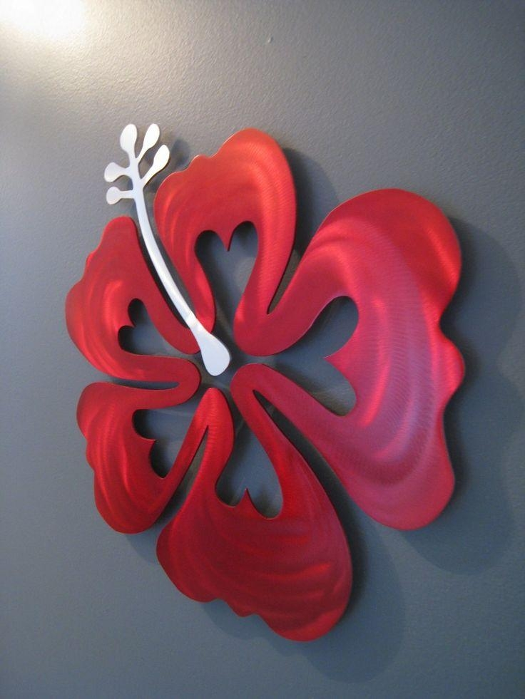 133 Best Metal Art Images On Pinterest | Metal Art, Sculptures And Throughout Red Flower Metal Wall Art (Image 3 of 20)