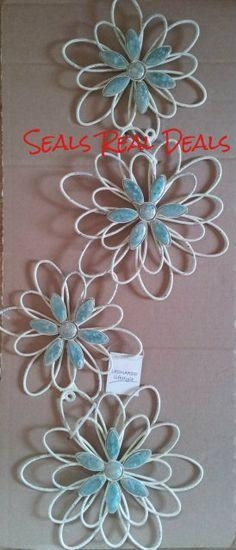 14.99 #shabby Chic. Metal Flower Wall Art (Image 4 of 20)