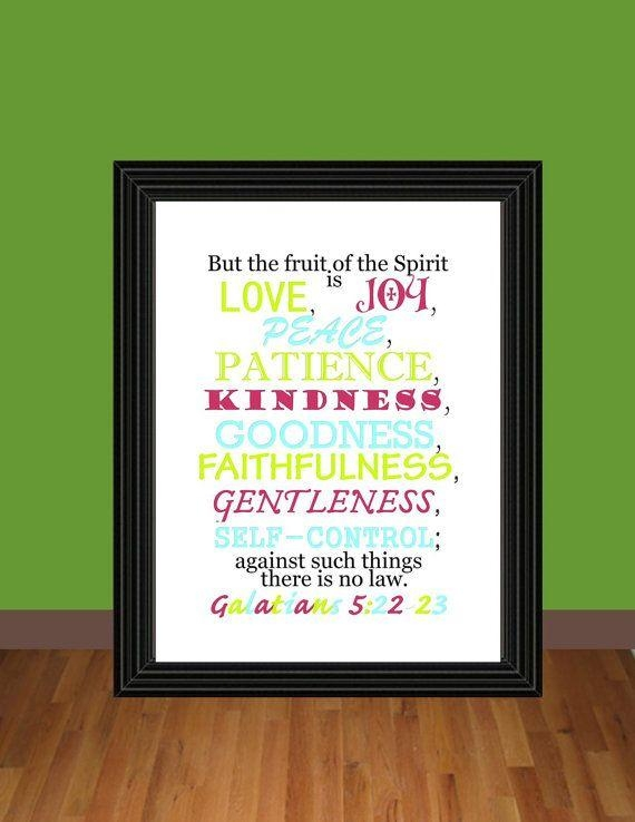 14 Best Fruits Of The Spirit Gifts Images On Pinterest | Fruit Of Regarding Fruit Of The Spirit Artwork (Image 2 of 20)