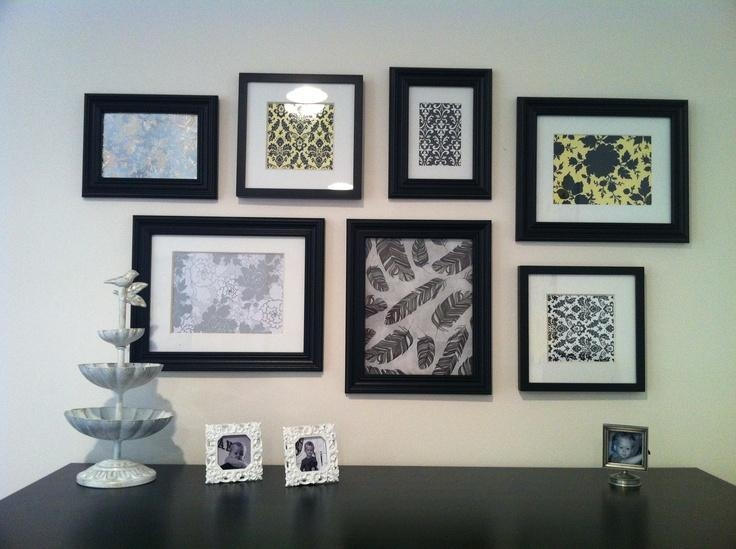 14 Best Scrapbook Paper Art Images On Pinterest | Paper Art, Scrap Regarding Walmart Framed Art (Image 1 of 20)