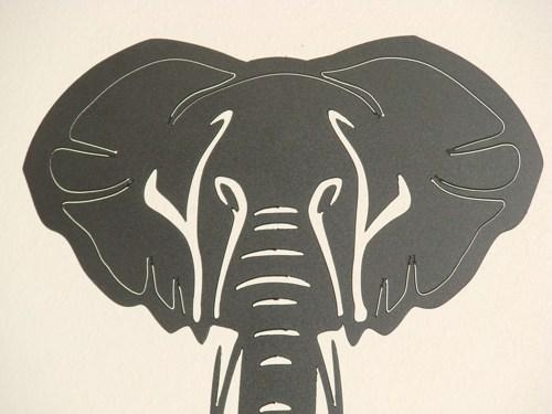 14 Inch Steel Black Matte African Elephant Art Deco Metal Wall Art With Art Deco Metal Wall Art (Image 4 of 20)