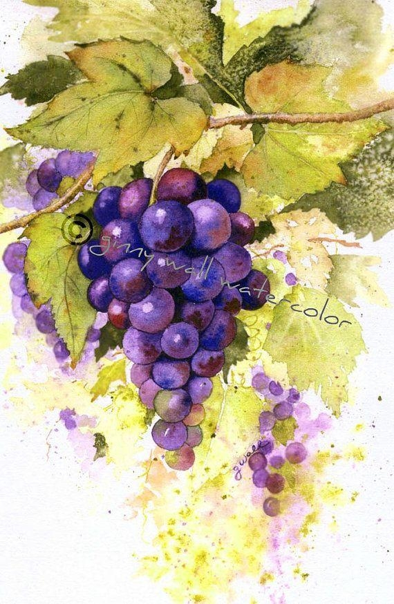 141 Best Wine & Olive Images On Pinterest | Kitchen, Pictures And In Grape Wall Art (Image 1 of 20)