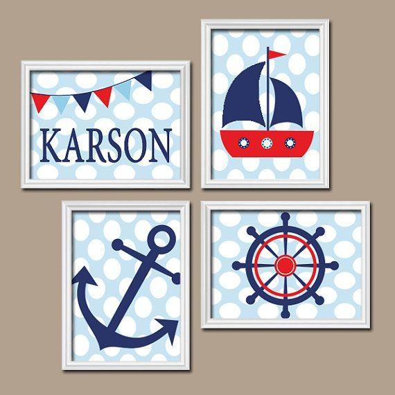 144 Best Madera Country Niños Images On Pinterest | Babies Rooms With Regard To Nautical Canvas Wall Art (Image 1 of 20)