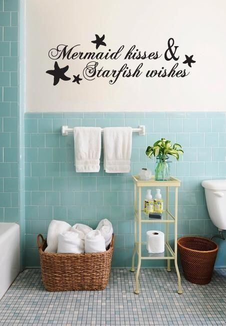 145 Best Home Sweet Home Images On Pinterest | Vinyl Wall Decals With Regard To Fish Decals For Bathroom (Image 1 of 20)