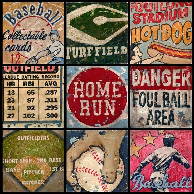 15 Best Sports Art Images On Pinterest | Canvas Walls, Canvas Wall Inside Vintage Baseball Wall Art (Image 1 of 20)