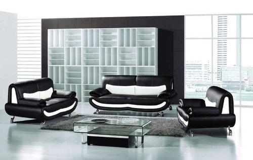 15 Black And White Leather Sofa Set | Carehouse Inside Black And White Leather Sofas (Image 3 of 20)