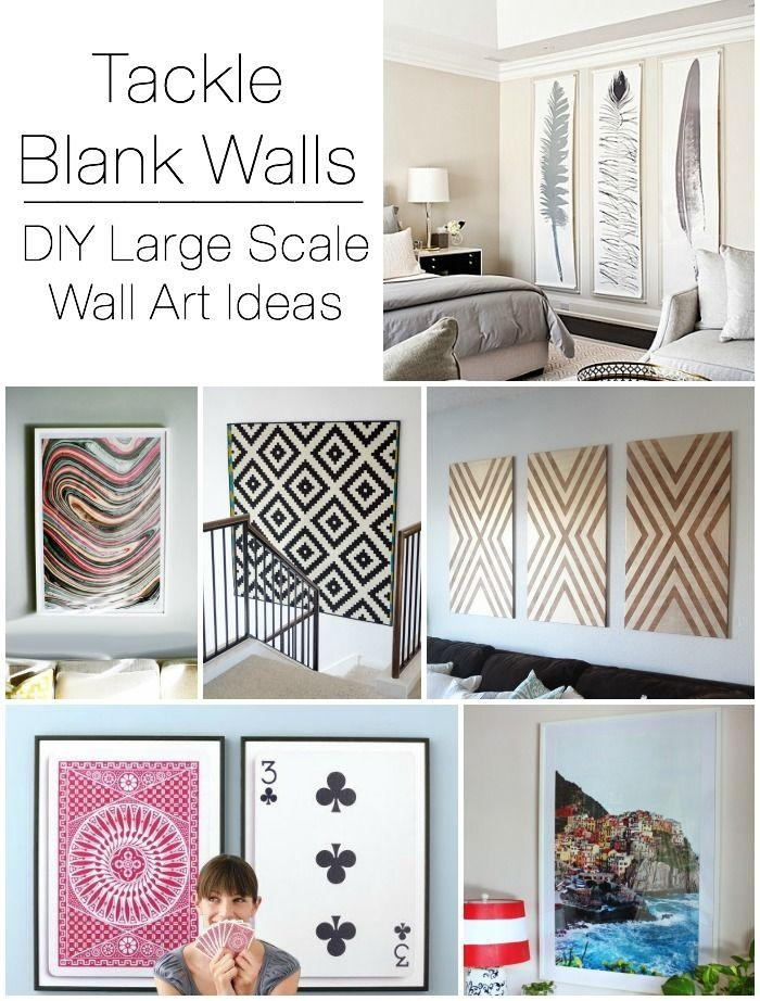 15 Diy Ideas To Refresh Your Living Room 11 | Scale, Walls And Intended For Cheap Big Wall Art (Image 1 of 20)
