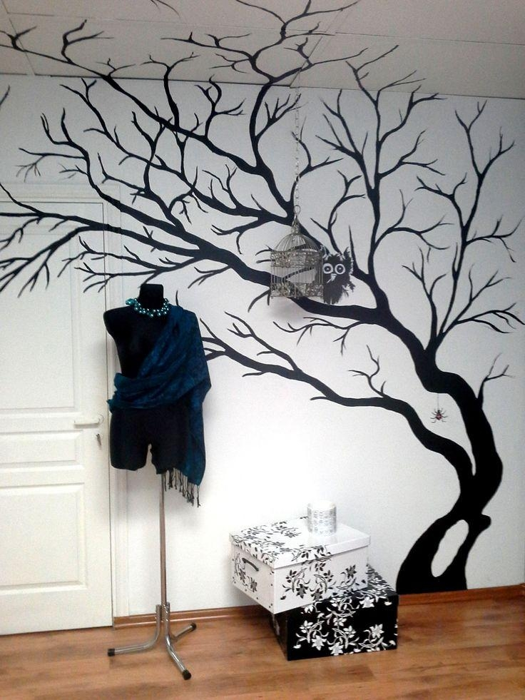 151 Best Tree Wall Murals Images On Pinterest | Projects, Drawings Inside Painted Trees Wall Art (View 3 of 20)