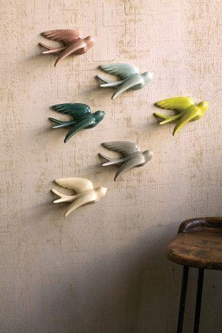 152 Best Swallow « Images On Pinterest | Swallow, Paper And Wall Inside Ceramic Bird Wall Art (View 5 of 20)