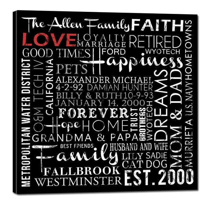 1556 Best Canvas Word Art Images On Pinterest | Canvas Word Art Inside Custom Canvas Art With Words (Image 1 of 20)