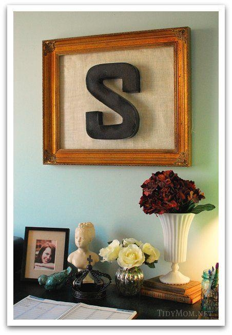 159 Best Wall Decor Diy Images On Pinterest | Crafts, Projects And Throughout Framed Monogram Wall Art (Image 2 of 20)