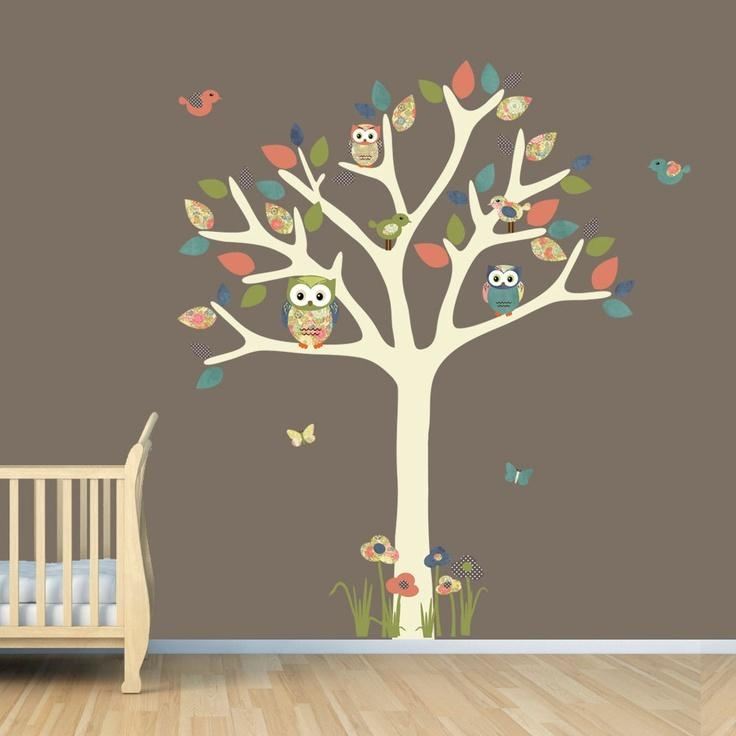 16 Best Kat's Owls Images On Pinterest | Owl Tree, Nursery Ideas For Owl Wall Art Stickers (View 13 of 20)