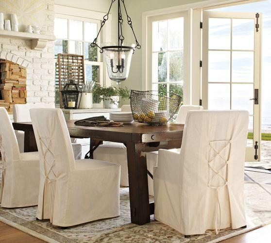 16 Best Slip Covers Images On Pinterest | Dining Room, Dining With Regard To Pottery Barn Chair Slipcovers (View 7 of 20)