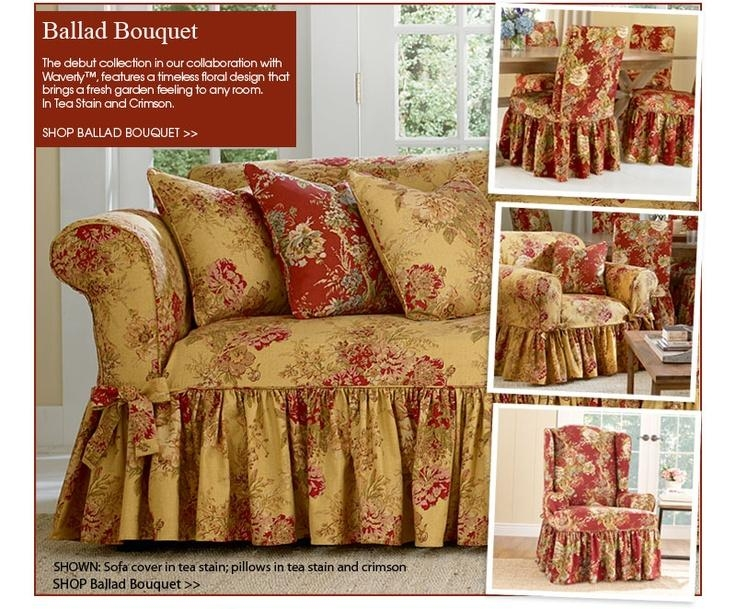 16 Best Slipcovers Images On Pinterest | Chair Slipcovers For Floral Slipcovers (Image 2 of 20)