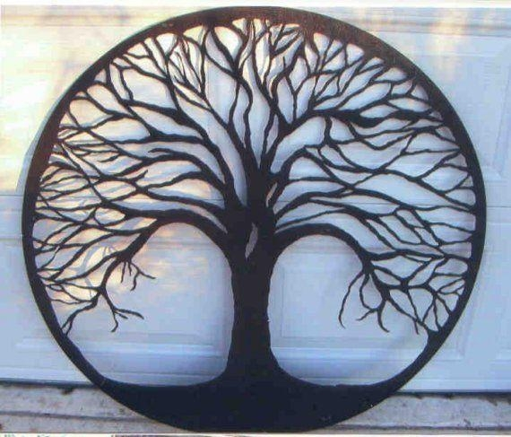 Featured Image of Metal Oak Tree Wall Art