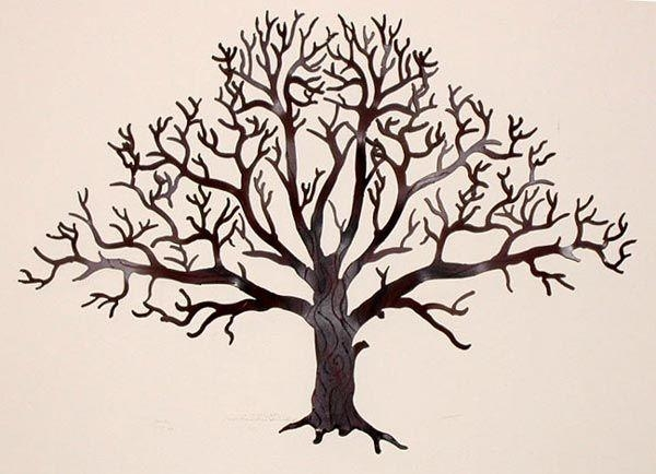 161 Best Tree Images On Pinterest | Trees, Drawings And Laser Cutting Throughout Oak Tree Metal Wall Art (Image 5 of 20)