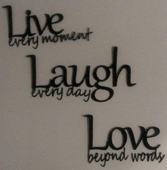 162 Best Wall Decor Images On Pinterest | Wall Stickers, Wall With Regard To Live Love Laugh Metal Wall Art (Image 1 of 20)