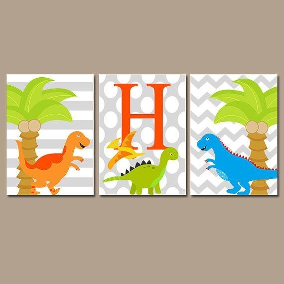 17 Best Dinosaur Bedroom Ideas Images On Pinterest | Dinosaur Intended For Dinosaur Canvas Wall Art (View 16 of 20)