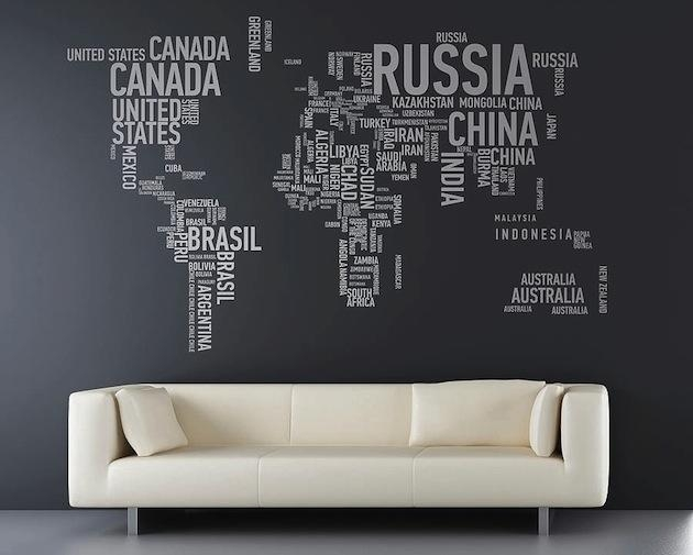 17 Cool Ideas For World Map Wall Art – Live Diy Ideas Within Map Wall Art (Image 1 of 20)