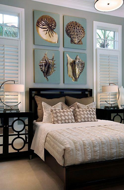 171 Best Home Beach Decor Images On Pinterest | Beach, Coastal With Regard To Beach Wall Art For Bedroom (Image 1 of 20)
