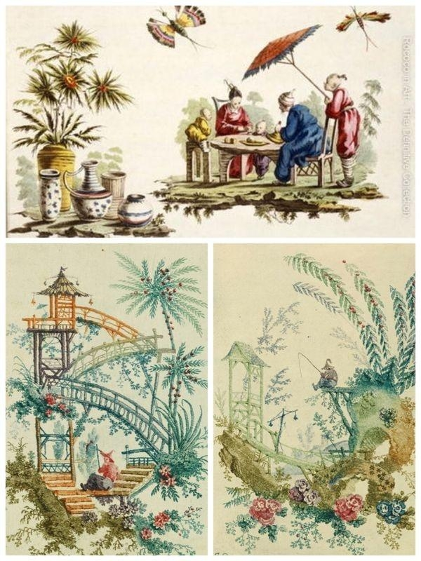 1715 Best Chinoiserie/wallpaper Images On Pinterest | Chinoiserie Within Chinoiserie Wall Art (Image 4 of 20)