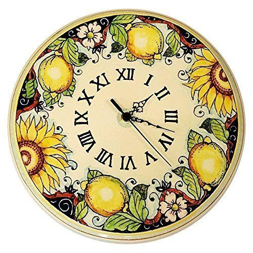 1767 Best Ceramica Images On Pinterest | Hand Painted, Handmade Pertaining To Italian Ceramic Wall Clock Decors (Photo 13 of 22)
